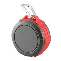 オーム電機 AudioComm Bluetooth ワイヤレスアウトドアスピーカー レッド