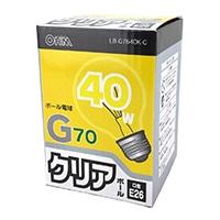 ミニボール電球40W形 クリア LB‐G7640K‐C