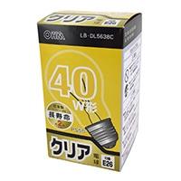 白熱電球 E26 40形相当 クリア 長寿命 LB-DL5638C