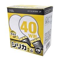 白熱電球 E26 40形相当 シリカ 2個入 長寿命 LB-DL5638W-2P