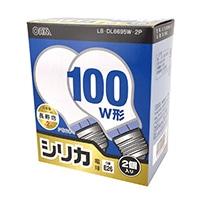 白熱電球 E26 100形相当 シリカ 2個入 長寿命 LB-DL6695W-2P