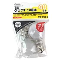 オーム電機 ミニクリプトン電球 E17 40形相当 ホワイト 2個入 LB-PS3536W-2P