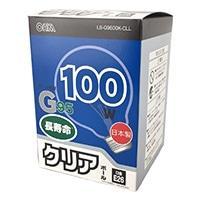 白熱ボール電球 100W E26 G95 クリア LB-G9600K-CLL
