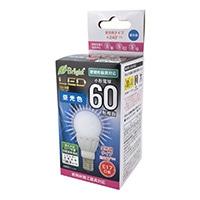 オーム LED電球 小形 E17 60形相当 昼光色 LDA6D-G-E17 IS21
