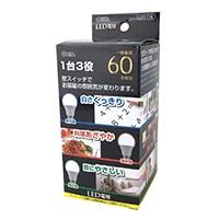 オーム LED電球 E26 60形相当 調色機能付 広配光 密閉器具対応 LDA7-G/CK AH9