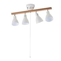オーム電機 4灯シーリングライト ホワイト 電球別売 YN40AW-W 06-1488
