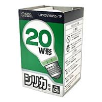 白熱電球 E26 20W形 ホワイト LW100V19W55/1P