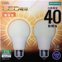 【数量限定】オーム LED電球 LDA4L−G AS24 2P