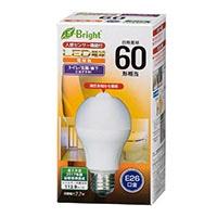 LED電球 E26 60形相当 人感センサー付 電球色