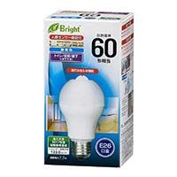 LED電球 E26 60形相当 人感センサー付 昼光色