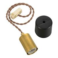 【店舗取り置き限定】オーム電機 ペンダントソケットライト 真鍮TypeA HS-LPS03 06-3903