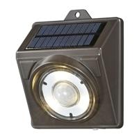 【数量限定】オーム電機 LEDソーラーライト ブラウン 100lm