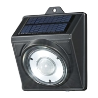 【数量限定】オーム電機 LEDソーラーライト ブラック 100lm