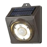 オーム電機 LEDソーラーライト ブラウン 200lm