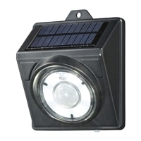オーム電機 LEDソーラーライト ブラック 200lm