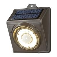 【数量限定】オーム電機 LEDソーラーライト ブラウン 400lm