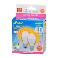オーム電機 LED電球 小形 E17 40形相当 電球色 2個入 LDA4L-G-E17 IH22 06-4321