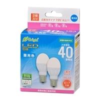 オーム電機 LED電球 小形 E17 40形相当 昼光色 2個入 LDA4D-G-E17 IH22 06-4322
