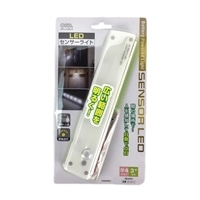 オーム電機 電池式LEDセンサーライト NIT-L103B-W