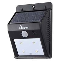 オーム電機 ソーラー発電式 LEDセンサーウォールライト 防水IP65 80ルーメン