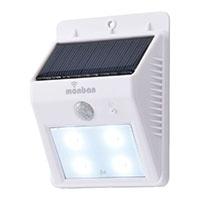 オーム電機 OHM LEDセンサー ウォールライト ソーラー式 ホワイト