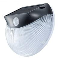 オーム電機 ソーラー発電式 LEDセンサーウォールライト 防水IP65 110ルーメン