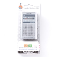 オーム電機 イヤホン巻取ポケットラジオRAD-F598M