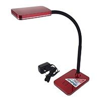 オーム電機 LEDデスクランプ レッド DS-LS16N-R