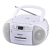 【店舗限定】オーム電機 AudioComm CDラジカセ ホワイト RCD-550Z-W 07-9804