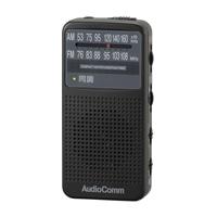オーム電機 AudioComm FMステレオラジオ ブラック RAD-P360Z-K 07-9814