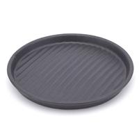 【数量限定】電子レンジ調理 魔法のお皿 丸型大プレート(黒) ピザ対応
