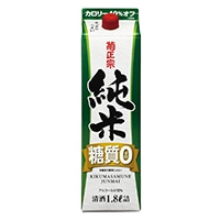 黄正宗 純米糖質ゼロパック 1800ml【別送品】