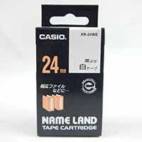 カシオ ネームランド テープカートリッジ XR-24WE 黒文字 白テープ