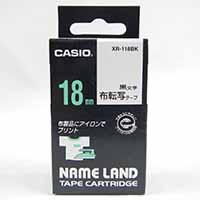 カシオ ネームランドテープ XR-118BK