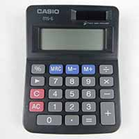 カシオ ジャスト電卓 MS-6BK-N