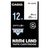 カシオ ネームランドテープ XR-12GWE