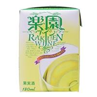 楽園ワインミニパック白 180ml【別送品】