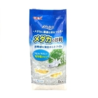 GEX メダカの砂利 パールホワイト 丸小粒 タイプ 1kg