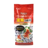GEX 金魚の砂利 ナチュラルミックス 角丸タイプ 1kg