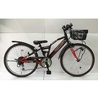 【自転車】【全国配送】ジュニアマウンテンバイク アメリカンイーグル 24インチ ブラック/レッド【別送品】