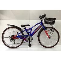 【自転車】【全国配送】ジュニアマウンテンバイク アメリカンイーグル 24インチ ブルー/レッド【別送品】