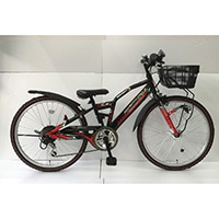 【自転車】【全国配送】ジュニアマウンテンバイク アメリカンイーグル 22インチ ブラック/レッド【別送品】