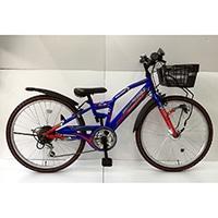 【自転車】【全国配送】ジュニアマウンテンバイク アメリカンイーグル 22インチ ブルー/レッド【別送品】