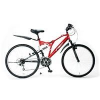 【自転車】《サギサカ》2020アメリカンイーグル WサスATB 26インチ MONTEREY レッド