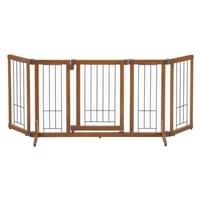 ペット用 木製おくだけドア付ゲート M