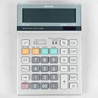 シャープデスクタイプ電卓12桁EL-S752K-X