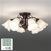 東芝 シャンデリア 6灯 10畳 LEDC88031-6G