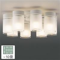 シャンデリア8灯 10畳 LEDC88028−8G