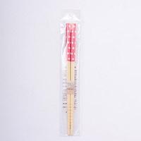 子供用食器 白竹子供箸 水玉(ピンク)16.5cm