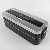 弁当箱 ランタスMC2段ランチ保冷剤付シルバー